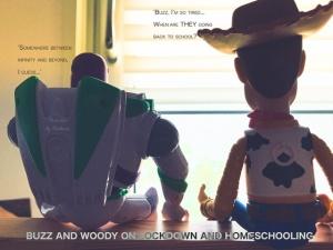 ToyStory Buzz en Woody over thuisonderwijs.